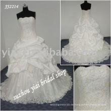 Einzigartiges Kugelart glänzendes Hochzeitskleidkleid JJ2214