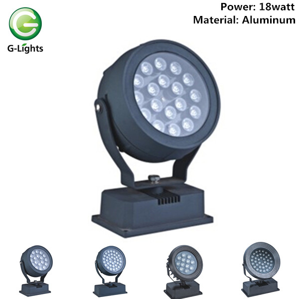 Round flood light