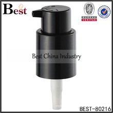 black cosmetic plastic lotion pump for hand soap