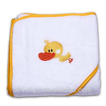 Towel baby bamboo towel 100% bamboo high quality aniaml embroidered design --Little duck