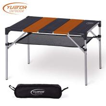 Открытый алюминиевый складной столик для пикника