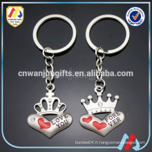 Porte-clés de couple, Keychain de coeur, porte-clés mignon