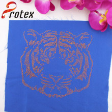Manufacturers Wholesale Gold Tiger Hotfix Strass Motive Design for High Quality Shirt, Texans Custom T-Shirt