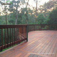 Chestnut color distressed crack-resistant merbau hardwood garden decking