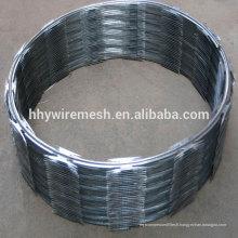 fil de barbelé rasoir tranchant sécurité anti-montée concertina fil CBT65 fil de rasoir
