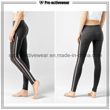 OEM 2016 High Quality Quick Drying Stretch Fitness Jogging Mesh Women Yoga Pants