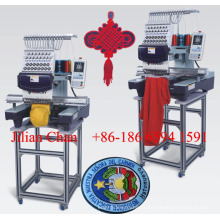 Elucky commercial 15 colors single head computer embroidery machine price for cap/t-shirt/flat embroidery