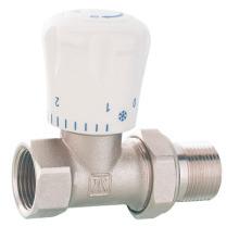 J3002 latón válvula de radiador recto con niquelado / válvula de control