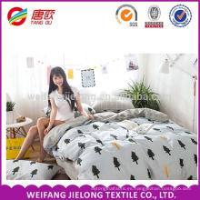 Tela de cama de algodón de tamaño King con buena sensación de mano en venta