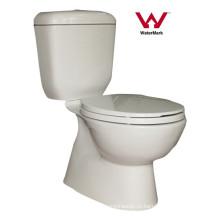 Сантехника Ванная комната Водяной знак Двухчастный керамический туалет (HZX-9971)