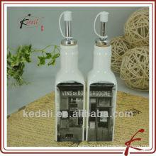 Louça de cerâmica para garrafas de óleo e vinagre