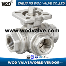 3 Ways Ball Valve with ISO 5211