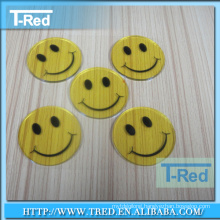 Round shape pu gel sticky pad adhesive wool felt pads for furniture protection