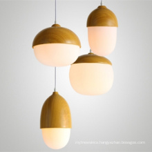 Simple Hand Made Solid Wood hanging light Indoor Decorative Pendant Light