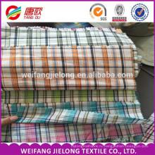 2016 высокое качество дышащий пряжи, окрашенной плед 100 хлопок ткань для T-рубашка 100% хлопок окрашенная пряжа проверки ткани для T-рубашка