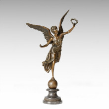 Mythology Statue Garland Angle Myth Bronze Sculpture TPE-143