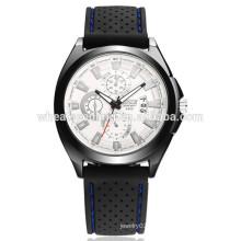 Clássico wristband impermeável banda silicone pulseira de relógio