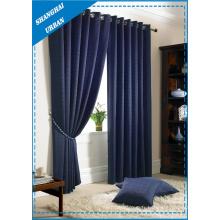 Rideau de fenêtre en polyester indigo
