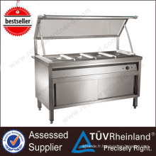Affichage chaud de buffet d'équipement de Bain Marie d'acier inoxydable de vente