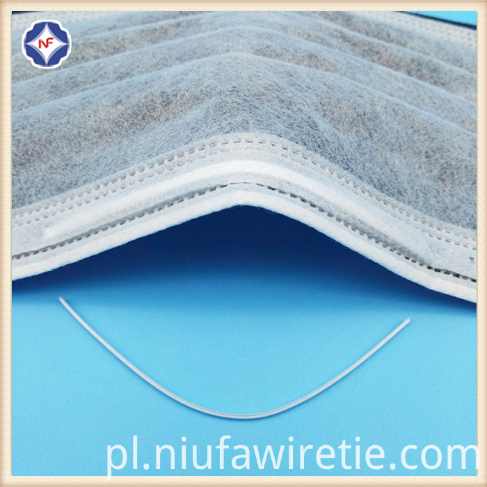 Plastic Single Core Nose Clip For Mask