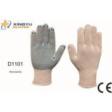 T / C Shell PVC Dots Sicherheits-Arbeitshandschuh (D1101)