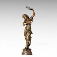 Tänzerfigur Statue Zigeunerdame Bronze Skulptur TPE-259