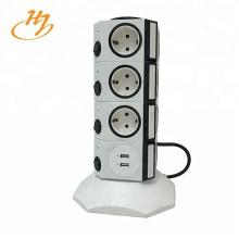 Dispositivos Protección contra sobretensiones Adaptador USB Enchufe vertical