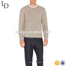Suéter de cachemira Jacquard Design para hombres con logotipo personalizado