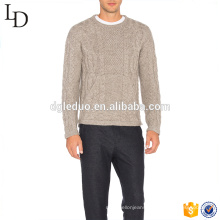 Men's Jacquard Design Cashmere sweater with customize logo