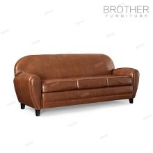 Moderne salon bureau canapé meubles 3 places en cuir véritable canapé ensemble