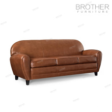 Modern living room office sofa furniture 3 seater genuine leather sofa set
