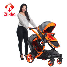 Car with Frame and Regular Seat and Regular Carrycot