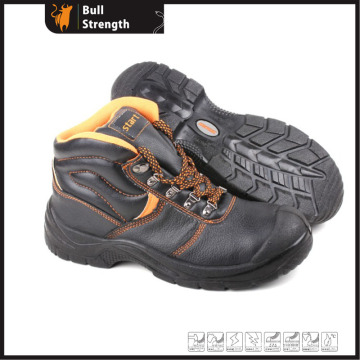 Genuine Leather with PU Injection Industrial Safety Shoe (SN5283)