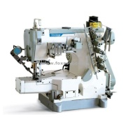 Máquina de costura de bloqueio do cilindro cama com parte superior e inferior Thread aparador