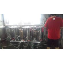 Ensemble complet de réservoir de brassage de bière en acier inoxydable