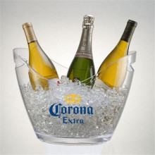 Led beer champagne ice bucket with lid
