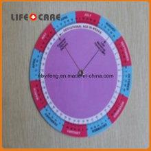 Пластиковый калькулятор стельности колеса