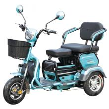 Folding three wheels electric tricycle two seats
