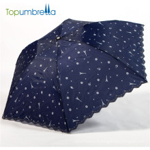 umbrella factory 21 inch manual 3 folding sun umbrella