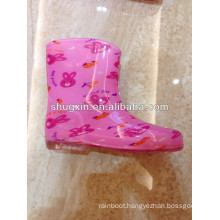 children pvc red butterfly rain shoes