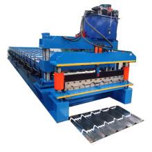 Aluminium-Schritt-Fliesen-Dach-Rolle, die Maschine bildet