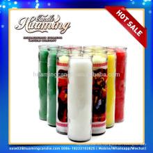 Huaming 7 días velas al por mayor exportadores / 7 días velas perfumadas en frasco de vidrio
