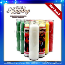 Huaming 7 day candles wholesale Exporters/7 days scented candles in glass jar