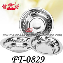 Stainless Steel Round Plate (FT-0829)