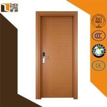 Mdf profesional de la puerta delantera, puerta de madera sólida exterior, uso de madera revestido de alta calidad de la puerta del mdf del pvc para el hotel