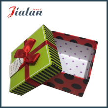 Samll Gifts Wholesale Matte Lamination Gift Paper Box with Bows