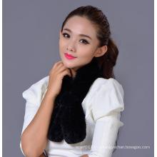 Женская мода 100% Рекс кролика зимний шарф (YKY4396)
