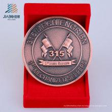 Regalo de promoción de venta caliente Moneda de recuerdo de metal de bronce personalizada antigua