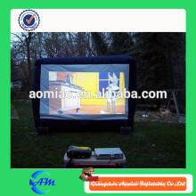 Pantalla de cine trasera de proyección inflable de cine al aire libre en lona