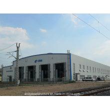 Taller de estructura de acero ligero prefabricado profesional diseñado